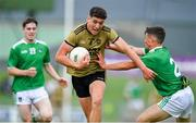 11 July 2019; Joseph O'Connor of Kerry is tackled by Jack Fitzgerald of Limerick during the EirGrid GAA Football Under 20 Munster Championship Semi-Final match between Kerry and Limerick at Austin Stack Park in Tralee, Kerry. Photo by Brendan Moran/Sportsfile