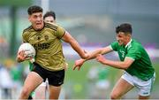 11 July 2019; Joseph O'Connor of Kerry in action against Jack Fitzgerald of Limerick during the EirGrid GAA Football Under 20 Munster Championship Semi-Final match between Kerry and Limerick at Austin Stack Park in Tralee, Kerry. Photo by Brendan Moran/Sportsfile
