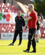 11 July 2019; Cork City Interim-Head Coach John Cotter, left, and Cork City Interim-Manager Frank Kelleher ahead of the UEFA Europa League First Qualifying Round 1st Leg match between Cork City and Progres Niederkorn at Turners Cross in Cork. Photo by Eóin Noonan/Sportsfile