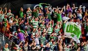 11 July 2019; Shamrock Rovers fans during the  UEFA Europa League First Qualifying Round 1st Leg match between SK Brann and Shamrock Rovers at Brann Stadion, Bergen, Norway. Photo by Bjorn Erik Nesse/Sportsfile.
