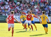 11 July 2019; Gary Shaw of St Patricks Athletic in action against Alexander Fransson of IFK Norrköping during the UEFA Europa League First Qualifying Round 1st Leg match between St Patrick's Athletic and IFK Norrköping at Richmond Park in Inchicore, Dublin. Photo by Sam Barnes/Sportsfile