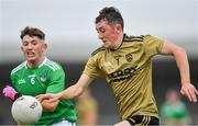 11 July 2019; Seán O'Leary of Kerry in action against Adam Shanagher of Limerick during the EirGrid GAA Football Under 20 Munster Championship Semi-Final match between Kerry and Limerick at Austin Stack Park in Tralee, Kerry. Photo by Brendan Moran/Sportsfile