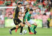 11 July 2019; Gearóid Morrissey of Cork City in action against Christian Silaj of Progrès Niederkorn during the UEFA Europa League First Qualifying Round 1st Leg match between Cork City and Progres Niederkorn at Turners Cross in Cork. Photo by Eóin Noonan/Sportsfile