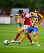 11 July 2019; Rhys McCabe of St Patricks Athletic in action against Simon Thern of IFK Norrköping during the UEFA Europa League First Qualifying Round 1st Leg match between St Patrick's Athletic and IFK Norrköping at Richmond Park in Inchicore, Dublin. Photo by Sam Barnes/Sportsfile