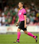 11 July 2019; Referee Aleksandrs Anufrijevs during the UEFA Europa League First Qualifying Round 1st Leg match between Cork City and Progres Niederkorn at Turners Cross in Cork. Photo by Eóin Noonan/Sportsfile