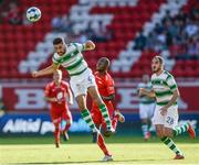 11 July 2019;  Roberto Lopes of Shamrock Rovers in action during the UEFA Europa League First Qualifying Round 1st Leg match between SK Brann and Shamrock Rovers at Brann Stadion, Bergen, Norway. Photo by Bjorn Erik Nesse/Sportsfile.