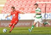 11 July 2019; Kristoffer Løkberg of SK Brann and Jack Byrne of Shamrock Rovers during the UEFA Europa League First Qualifying Round 1st Leg match between SK Brann and Shamrock Rovers at Brann Stadion, Bergen, Norway. Photo by Bjorn Erik Nesse/Sportsfile.