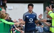12 July 2019; Joey Carbery greets young supporters prior to an Ireland Rugby open training session at Sportsground in Galway. Photo by Matt Browne/Sportsfile