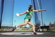 11 July 2019; Niamh Fogarty of Ireland competes in the Women's Discus Throw on day one of the European U23 Athletics Championships at the Gunder Hägg Stadium in Gävle, Sweden. Photo by Giancarlo Colombo/Sportsfile