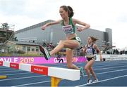 11 July 2019; Eilish Flanagan of Ireland competes in the Women's 3000m Steeplechase on day one of the European U23 Athletics Championships at the Gunder Hägg Stadium in Gävle, Sweden. Photo by Giancarlo Colombo/Sportsfile