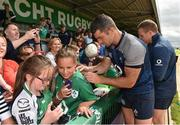 12 July 2019; Rob Kearney signs autographs for supporters after an Ireland Rugby open training session at the Sportsground in Galway. Photo by Matt Browne/Sportsfile