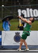 12 July 2019; Owen Russell of Ireland competes in the Men's Hammer Throw during day two of the European U23 Athletics Championships at the Gunder Hägg Stadium in Gävle, Sweden. Photo by Giancarlo Colombo/Sportsfile