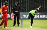 12 June 2019; Tyrone Kane of Ireland bowls a delivery during the 2nd T20 Cricket International match between Ireland and Zimbabwe at Bready Cricket Club in Magheramason, Co. Tyrone. Photo by Oliver McVeigh/Sportsfile