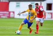 11 July 2019; Christoffer Nyman of IFK Norrköping in action against Conor Clifford of St Patricks Athletic during the UEFA Europa League First Qualifying Round 1st Leg match between St Patrick's Athletic and IFK Norrköping at Richmond Park in Inchicore, Dublin. Photo by Sam Barnes/Sportsfile
