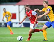 11 July 2019; Conor Clifford of St Patrick's Athletic in action against Alexander Fransson of IFK Norrköping during the UEFA Europa League First Qualifying Round 1st Leg match between St Patrick's Athletic and IFK Norrköping at Ricmond Park in Inchicore, Dublin. Photo by Matt Browne/Sportsfile