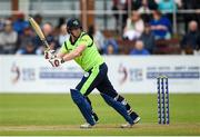 12 June 2019; Kevin O'Brien of Ireland batting during the 2nd T20 Cricket International match between Ireland and Zimbabwe at Bready Cricket Club in Magheramason, Co. Tyrone. Photo by Oliver McVeigh/Sportsfile