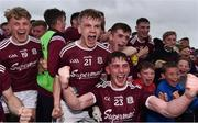 10 July 2019; Galway players, including Liam Costello, centre left, and Conor Newell, centre, right, celebrate following the EirGrid Connacht GAA Football U20 Championship final match between Galway and Mayo at Tuam, Co. Galway. Photo by Sam Barnes/Sportsfile