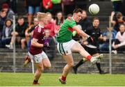 10 July 2019; Gavin Durcan of Mayo in action against Jack Kirrane of Galway during the EirGrid Connacht GAA Football U20 Championship final match between Galway and Mayo at Tuam, Co. Galway. Photo by Sam Barnes/Sportsfile