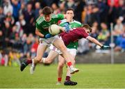 10 July 2019; Aaron McDonnell of Mayo in action against Liam Boyle of Galway during the EirGrid Connacht GAA Football U20 Championship final match between Galway and Mayo at Tuam, Co. Galway. Photo by Sam Barnes/Sportsfile