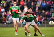 10 July 2019; Aaron McDonnell of Mayo in action against Ciarán Potter of Galway during the EirGrid Connacht GAA Football U20 Championship final match between Galway and Mayo at Tuam, Co. Galway. Photo by Sam Barnes/Sportsfile