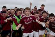 10 July 2019; Galway players, including Liam Costello, centre, celebrate following the EirGrid Connacht GAA Football U20 Championship final match between Galway and Mayo at Tuam, Co. Galway. Photo by Sam Barnes/Sportsfile