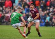 10 July 2019; Michael Culhane of Galway in action against Eoghan McLaughlin of Mayo during the EirGrid Connacht GAA Football U20 Championship final match between Galway and Mayo at Tuam, Co. Galway. Photo by Sam Barnes/Sportsfile