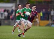 10 July 2019; Rory Brickenden of Mayo in action against Ciarán Potter of Galway during the EirGrid Connacht GAA Football U20 Championship final match between Galway and Mayo at Tuam, Co. Galway. Photo by Sam Barnes/Sportsfile