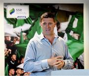 13 July 2019; Former Republic of Ireland international Niall Quinn speaking on the Future of the National League on day one of the National League Strategic Planning Weekend at FAI Headquarters in Abbotstown, Dublin. Photo by Ramsey Cardy/Sportsfile