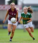 13 July 2019; Megan Glynn of Galway in action against Anna O'Reilly of Kerry during the TG4 All-Ireland Ladies Football Senior Championship Group 3 Round 1 match between Galway and Kerry at O'Moore Park in Portlaoise, Laois. Photo by Piaras Ó Mídheach/Sportsfile