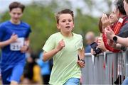 13 July 2019; Joe Kenny, from Wicklow, who won the family fun run before the Irish Runner 10 Mile in conjunction with the AAI National 10 Mile Championships at Phoenix Park in Dublin. Photo by Matt Browne/Sportsfile