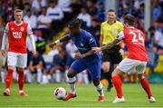 13 July 2019; Michy Batshuayi of Chelsea FC in action against Rhys McCabe of St Patrick's Athletic during the club friendly match between St Patrick's Athletic and Chelsea FC at Richmond Park in Dublin. Photo by Matt Browne/Sportsfile