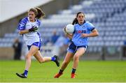 13 July 2019; Sinéad Goldrick of Dublin gets past Katie Murray of Waterford during the TG4 All-Ireland Ladies Football Senior Championship Group 2 Round 1 match between Dublin and Waterford at O'Moore Park in Portlaoise, Laois. Photo by Piaras Ó Mídheach/Sportsfile