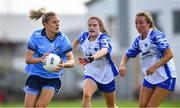 13 July 2019; Nicole Owens of Dublin in action against Katie Murray, centre, and Aisling Mullaney of Waterford during the TG4 All-Ireland Ladies Football Senior Championship Group 2 Round 1 match between Dublin and Waterford at O'Moore Park in Portlaoise, Laois. Photo by Piaras Ó Mídheach/Sportsfile
