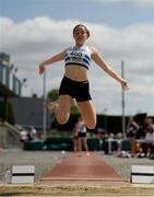 13 July 2019; Sarah Millea of Celbridge A.C. Co. Kildare competing in the Long Jump during day two of the Irish Life Health National Juvenile Outdoor Championships at Tullamore Harriers Stadium in Tullamore, Co. Offaly.   Photo by Eóin Noonan/Sportsfile