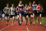 13 July 2019; Athletes competing in the boys u17 3000m during day two of the Irish Life Health National Juvenile Outdoor Championships at Tullamore Harriers Stadium in Tullamore, Co. Offaly.   Photo by Eóin Noonan/Sportsfile