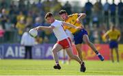 13 July 2019; Conor Meyler of Tyrone is tackled by Shane Killoran of Roscommon during the GAA Football All-Ireland Senior Championship Quarter-Final Group 2 Phase 1 match between Roscommon and Tyrone at Dr Hyde Park in Roscommon. Photo by Brendan Moran/Sportsfile