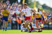 13 July 2019; Peter Harte of Tyrone charges forward during the GAA Football All-Ireland Senior Championship Quarter-Final Group 2 Phase 1 match between Roscommon and Tyrone at Dr Hyde Park in Roscommon. Photo by Brendan Moran/Sportsfile