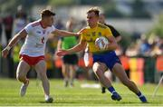 13 July 2019; Enda Smith of Roscommon in action against Conor Meyler of Tyrone during the GAA Football All-Ireland Senior Championship Quarter-Final Group 2 Phase 1 match between Roscommon and Tyrone at Dr Hyde Park in Roscommon. Photo by Brendan Moran/Sportsfile