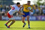 13 July 2019; Niall Kilroy of Roscommon is tackled by Padraig Hampsey of Tyrone during the GAA Football All-Ireland Senior Championship Quarter-Final Group 2 Phase 1 match between Roscommon and Tyrone at Dr Hyde Park in Roscommon. Photo by Brendan Moran/Sportsfile