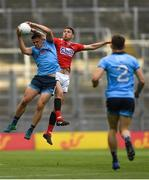 13 July 2019; Brian Howard of Dublin in action against Luke Connolly of Cork during the GAA Football All-Ireland Senior Championship Quarter-Final Group 2 Phase 1 match between Dublin and Cork at Croke Park in Dublin. Photo by Eóin Noonan/Sportsfile