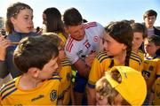 13 July 2019; Conor Cox of Roscommon signs autographs for fans after the GAA Football All-Ireland Senior Championship Quarter-Final Group 2 Phase 1 match between Roscommon and Tyrone at Dr Hyde Park in Roscommon. Photo by Brendan Moran/Sportsfile