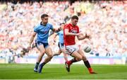 13 July 2019; Luke Connolly of Cork in action against David Byrne of Dublin during the GAA Football All-Ireland Senior Championship Quarter-Final Group 2 Phase 1 match between Dublin and Cork at Croke Park in Dublin. Photo by Eóin Noonan/Sportsfile
