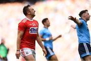 13 July 2019; Paul Kerrigan of Cork reacts after missing a scoring opportunity during the GAA Football All-Ireland Senior Championship Quarter-Final Group 2 Phase 1 match between Dublin and Cork at Croke Park in Dublin. Photo by Eóin Noonan/Sportsfile