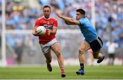 13 July 2019; Paul Kerrigan of Cork in action against David Byrne of Dublin during the GAA Football All-Ireland Senior Championship Quarter-Final Group 2 Phase 1 match between Dublin and Cork at Croke Park in Dublin. Photo by Eóin Noonan/Sportsfile