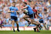 13 July 2019; Philip McMahon of Dublin is tackled by Ruairí Deane of Cork during the GAA Football All-Ireland Senior Championship Quarter-Final Group 2 Phase 1 match between Dublin and Cork at Croke Park in Dublin. Photo by Eóin Noonan/Sportsfile