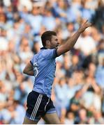 13 July 2019; Jack McCaffrey of Dublin celebrates after scoring his side's first goal during the GAA Football All-Ireland Senior Championship Quarter-Final Group 2 Phase 1 match between Dublin and Cork at Croke Park in Dublin. Photo by Daire Brennan/Sportsfile