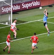 13 July 2019; Michael Darragh Macauley of Dublin scores his side's second goal during the GAA Football All-Ireland Senior Championship Quarter-Final Group 2 Phase 1 match between Dublin and Cork at Croke Park in Dublin. Photo by Daire Brennan/Sportsfile
