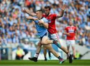 13 July 2019; Con O'Callaghan of Dublin in action against James Loughrey of Cork during the GAA Football All-Ireland Senior Championship Quarter-Final Group 2 Phase 1 match between Dublin and Cork at Croke Park in Dublin. Photo by Daire Brennan/Sportsfile