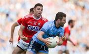 13 July 2019; Jack McCaffrey of Dublin in action against Luke Connolly of Cork during the GAA Football All-Ireland Senior Championship Quarter-Final Group 2 Phase 1 match between Dublin and Cork at Croke Park in Dublin. Photo by Daire Brennan/Sportsfile
