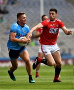 13 July 2019; Ciarán Kilkenny of Dublin in action against Luke Connolly of Cork during the GAA Football All-Ireland Senior Championship Quarter-Final Group 2 Phase 1 match between Dublin and Cork at Croke Park in Dublin. Photo by Ray McManus/Sportsfile